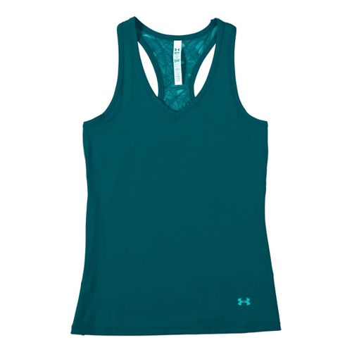 Womens Under Armour Sonic See It Through Tanks Technical Tops - Cerulean/Cerulean L