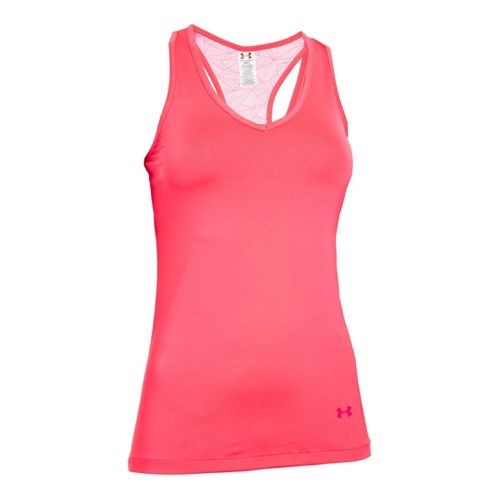 Womens Under Armour Sonic See It Through Tanks Technical Tops - Pinkadelic/Pinkadelic M