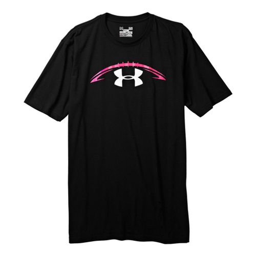 Mens Under Armour Pink Pride T Short Sleeve Non-Technical Tops - Black/White XL