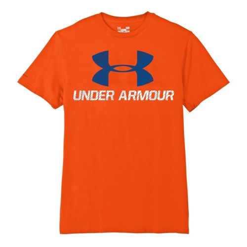Mens Under Armour Sportstyle III Logo T Short Sleeve Non-Technical Tops - Explosive/Midnight ...