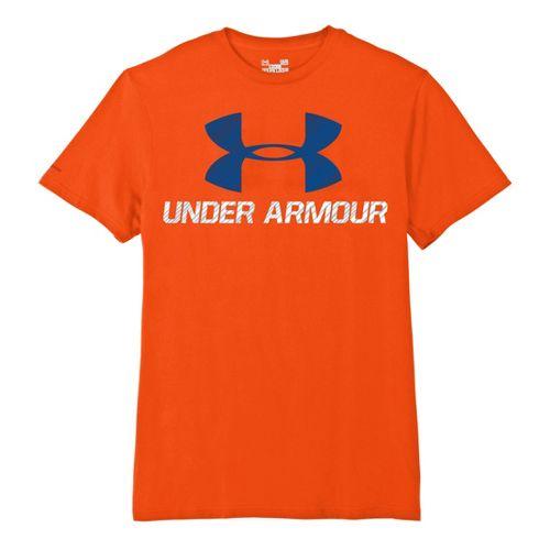 Mens Under Armour Sportstyle III Logo T Short Sleeve Non-Technical Tops - Explosive/Midnight ...