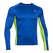 Mens Under Armour HeatGear Flyweight Run Long Sleeve No Zip Technical Tops