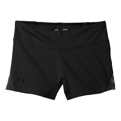 Womens Under Armour Sonic See It Thru Shorty Fitted Shorts - Black/Black L