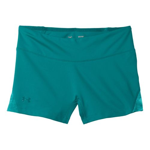 Womens Under Armour Sonic See It Thru Shorty Fitted Shorts - Cerulean/Cerulean XL