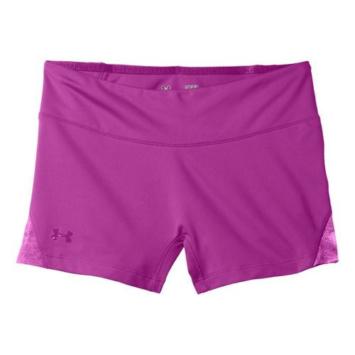 Womens Under Armour Sonic See It Thru Shorty Fitted Shorts - Strobe/Strobe M