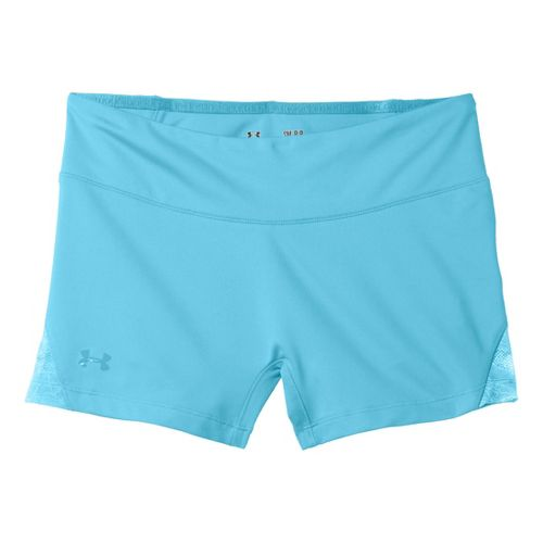 Womens Under Armour Sonic See It Thru Shorty Fitted Shorts - Tobago/Tobago L