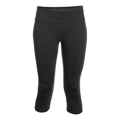 Womens Under Armour Sonic See It Thru Capri Tights - Black/Black XL