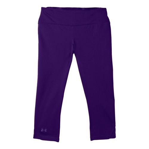 Womens Under Armour Sonic See It Thru Capri Tights - Purple Rain/Purple Rain S