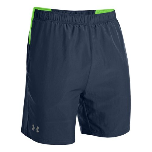 Mens Under Armour Sixth Man 2-in-1 Shorts - Academy/Gecko Green M