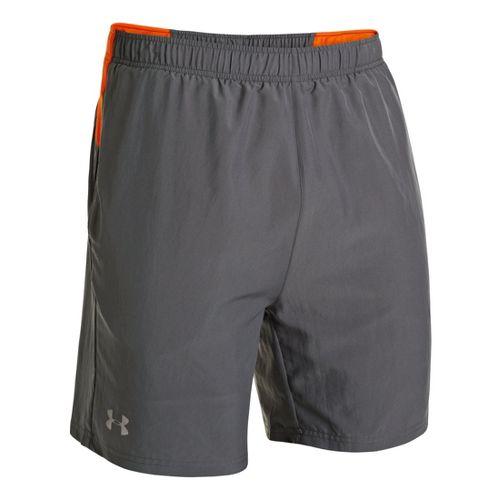 Mens Under Armour Sixth Man 2-in-1 Shorts - Graphite/Orange XL