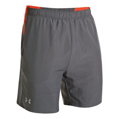Mens Under Armour Sixth Man 2-in-1 Shorts - Graphite/Volcano XXL