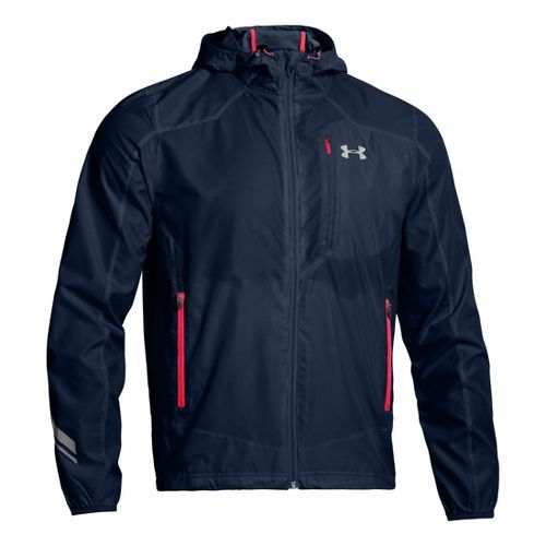 Mens Under Armour Imminent Running Jackets - Academy/Reflective L