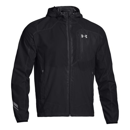 Mens Under Armour Imminent Running Jackets - Black/Reflective L
