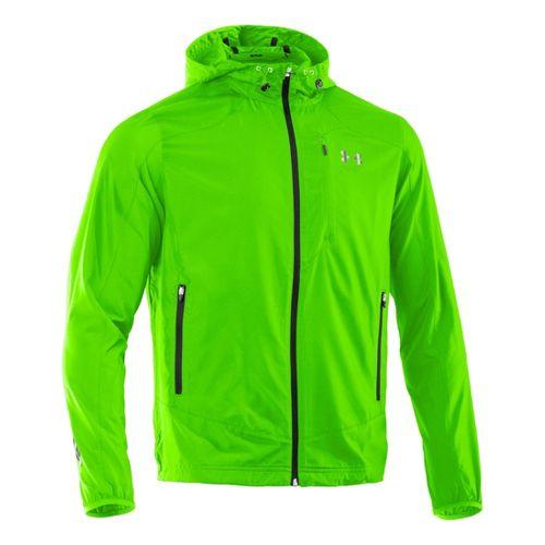 Mens Under Armour Imminent Running Jackets - Hyper Green/Black L