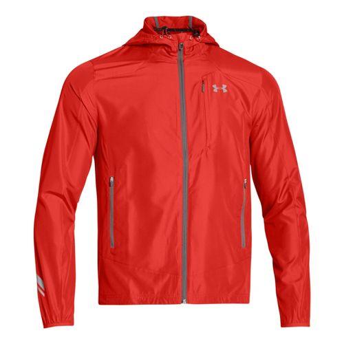 Mens Under Armour Imminent Running Jackets - Orange/Reflective XL
