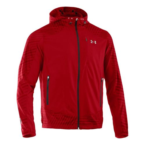 Mens Under Armour Imminent Running Jackets - Red/Black S