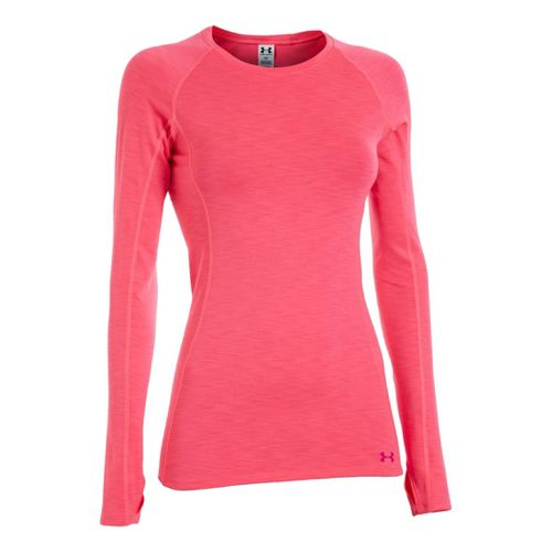 Womens Under Armour ColdGear Cozy Crew Long Sleeve No Zip Technical Tops - ...