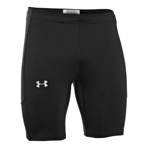 Mens Under Armour Dynamic Run Compression Fitted Shorts - Black/Black L