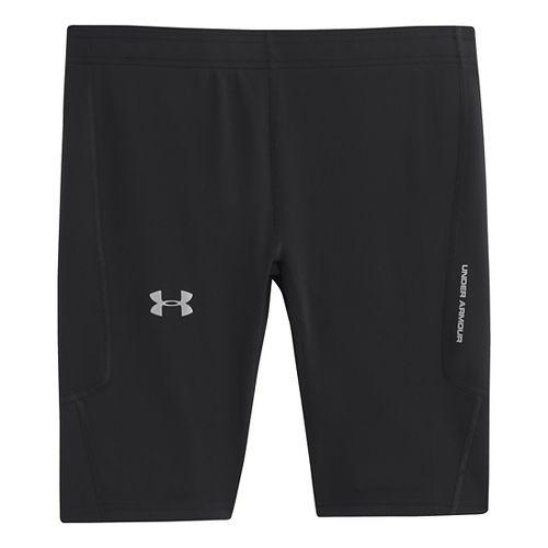 Mens Under Armour Dynamic Run Compression Fitted Shorts - Black/Reflective XXL