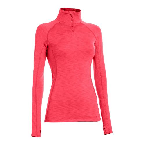 Womens Under Armour ColdGear Cozy Long Sleeve 1/2 Zip Technical Tops - Neo Pulse/Neo Pulse ...