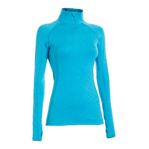 Womens Under Armour ColdGear Cozy Long Sleeve 1/2 Zip Technical Tops - Pirate Blue/Pirate Blue ...