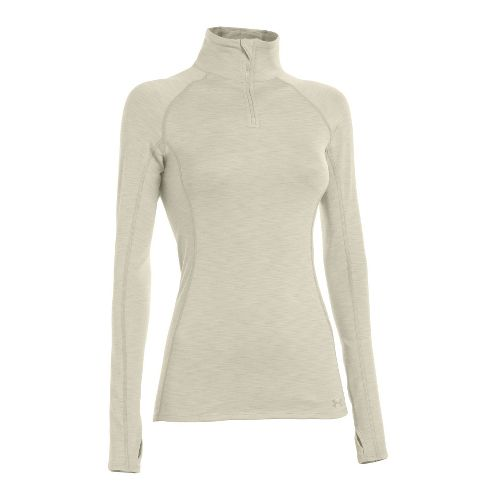 Womens Under Armour ColdGear Cozy Long Sleeve 1/2 Zip Technical Tops - Tusk/Tusk XS