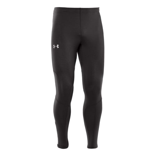 Mens Under Armour Dynamic Run Compression Fitted Tights - Black/Black L