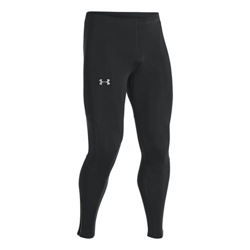 Mens Under Armour Dynamic Run Compression Fitted Tights - Black/Reflective XL