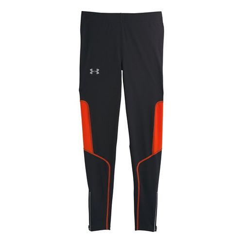 Mens Under Armour Dynamic Run Compression Fitted Tights - Black/Volcano M
