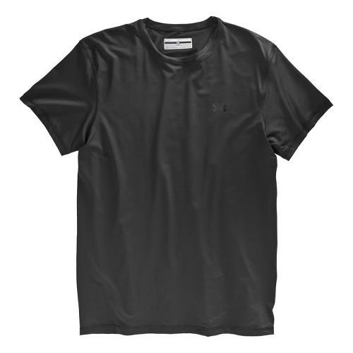 Mens Under Armour The Original Fitted Crew Short Sleeve Technical Tops - Black/Clear XS