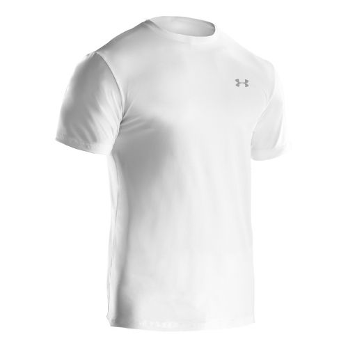 Mens Under Armour The Original Fitted Crew Short Sleeve Technical Tops - White/Clear L