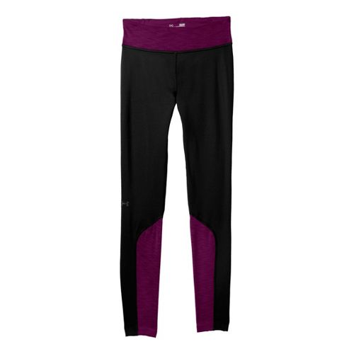 Womens Under Armour ColdGear Cozy Fitted Tights - Black/Aubergine L