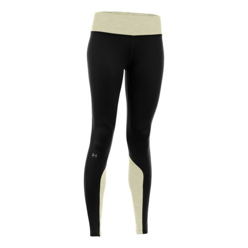 Womens Under Armour ColdGear Cozy Fitted Tights - Black/Tusk XL