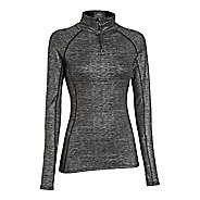 Womens Under Armour ColdGear Cozy Shimmer Long Sleeve 1/2 Zip Technical Tops