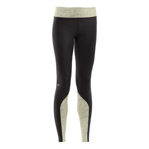 Womens Under Armour ColdGear Cozy Shimmer Fitted Tights - Black/Tusk S