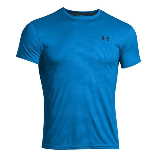 Mens Under Armour HeatGear Flyweight Crew Undershirt Short Sleeve Technical Tops - Electric ...
