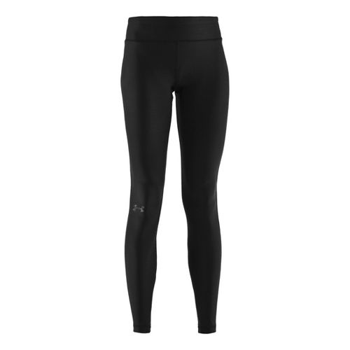 Womens Under Armour Authentic Coldgear Fitted Tights - Black/Black L