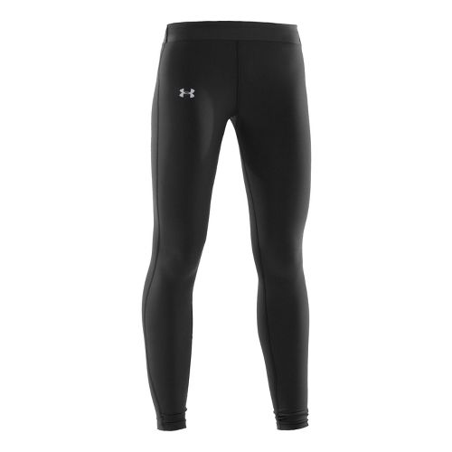 Womens Under Armour Coldgear Compression Fitted Tights - Black/Silver L
