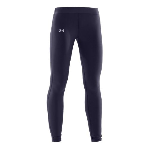 Womens Under Armour Coldgear Compression Fitted Tights - Midnight Navy/Silver L