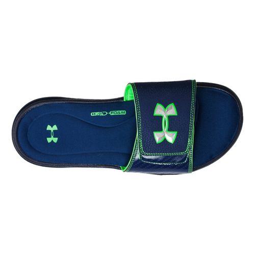 Kids Under Armour Ignite III SL Sandals Shoe - Midnight Navy/Poison 1