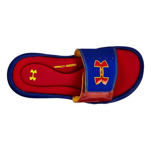 Kids Under Armour Ignite III SL Sandals Shoe - Royal/Red 3