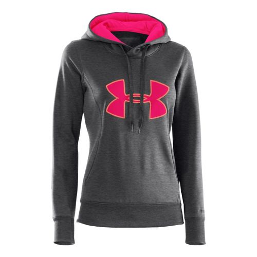 Womens Under Armour AF Storm Big Logo Warm-Up Hooded Jackets - Carbon Heather/Electric ...