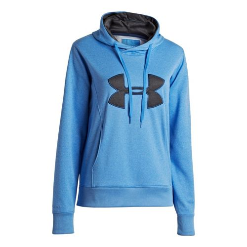 Womens Under Armour AF Storm Big Logo Warm-Up Hooded Jackets - Ceylon XS