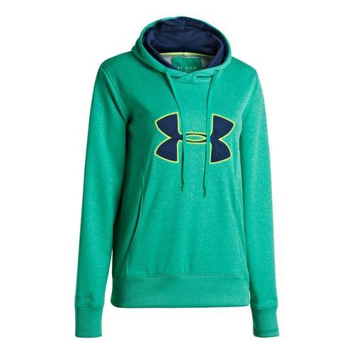 Womens Under Armour AF Storm Big Logo Warm-Up Hooded Jackets - Emerald Lake XL