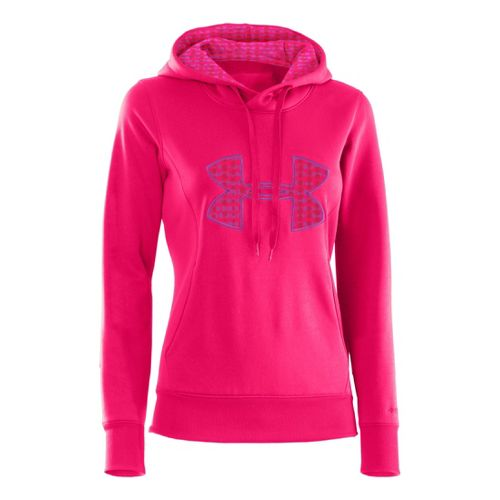 Womens Under Armour AF Storm Big Logo Warm-Up Hooded Jackets - Neo Pulse/Strobe XS