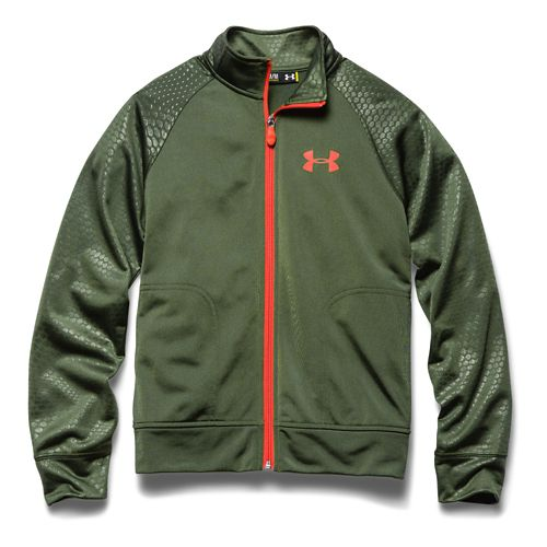 Kids Under Armour Boy Brawler II Full Zip Running Jackets - American Blue/Batik YXL