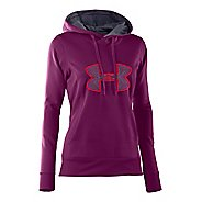 Womens Under Armour Fleece Storm Embroidery Big Logo Warm-Up Hooded Jackets