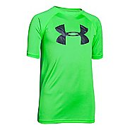 Kids Under Armour Boys Tech Big Logo Short Sleeve Technical Tops