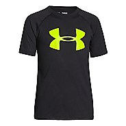 Kids Under Armour Boys Embossed/Twist Tech T Short Sleeve Technical Tops