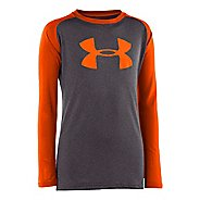 Kids Under Armour Boys Tech T Long Sleeve No Zip Technical Tops